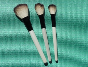 powder, blush and foundation brushes