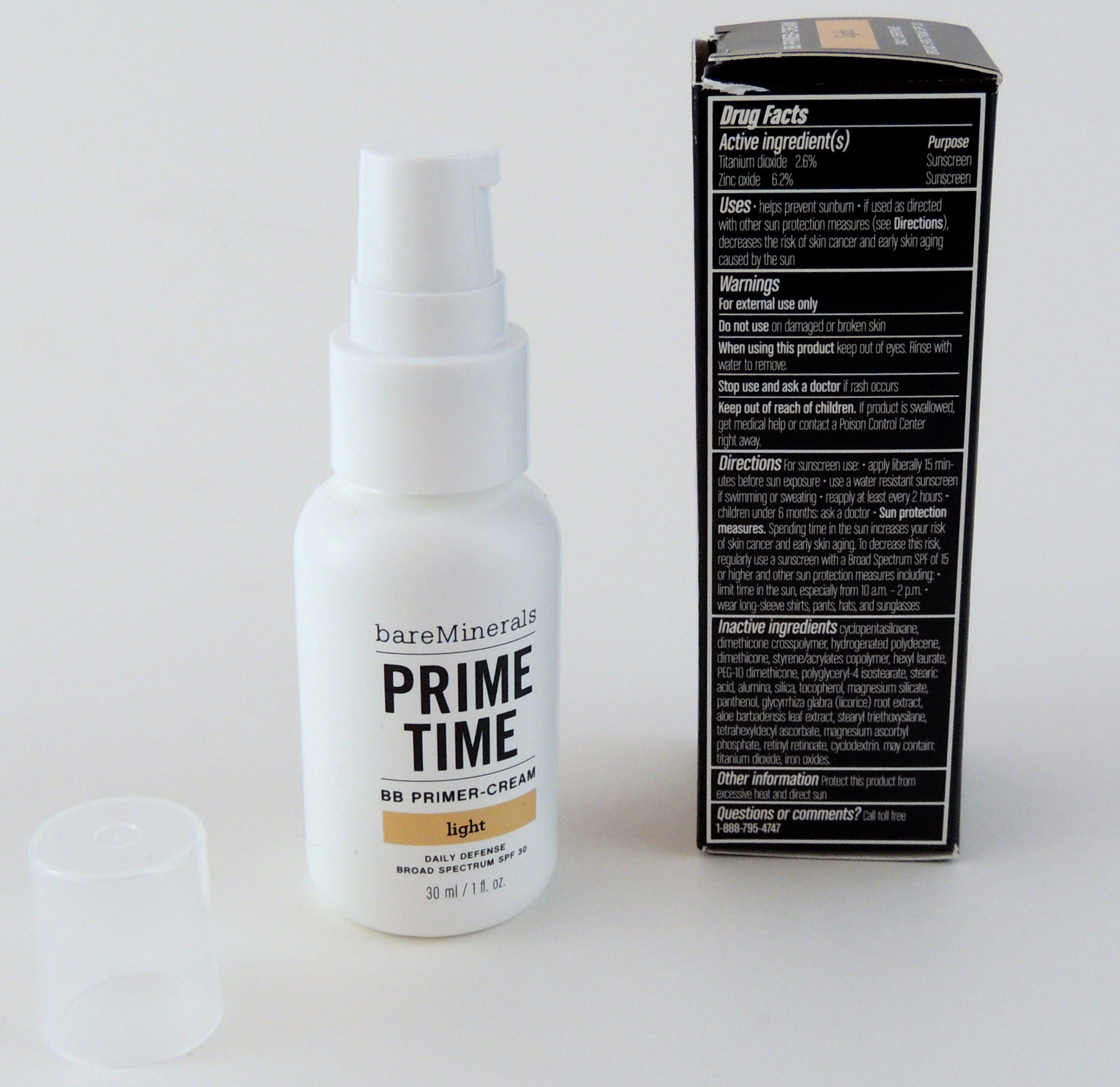 bareminerals prime time bb primer cream give me gorgeous. Black Bedroom Furniture Sets. Home Design Ideas